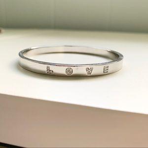 Natori Rhinestone LOVE bracelet
